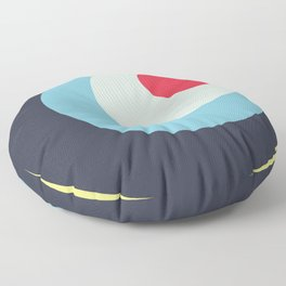 Parvati - Classic Colorful Abstract Minimal Retro 70s Style Dots Design Floor Pillow