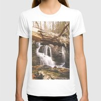 mineral T-shirts featuring Mineral Springs Falls by Mel O'Donohue