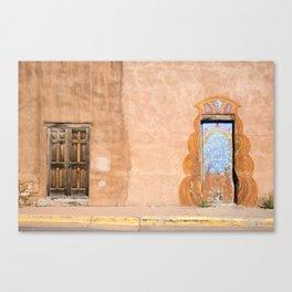 Wood Door and Mural, Santa Fe Canvas Print