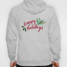 Happy Holidays - red and green Hoody
