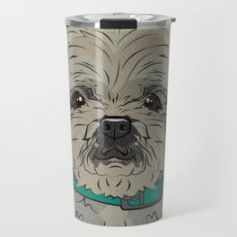 Icons of the Dog Park: Shih Tzu Design in Bold Colors for Pet Lovers Art Print Travel Mug