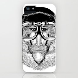 Monkey Speed Rebel iPhone Case