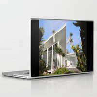 san diego Laptop & iPad Skins featuring San Diego Modern Pathway by Danny Heller