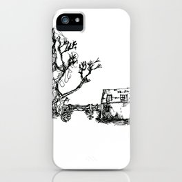 Farm and old wooden fence iPhone Case