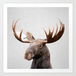 Moose - Colorful Art Print