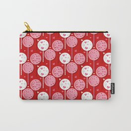 Valentines Lollipop Red Carry-All Pouch