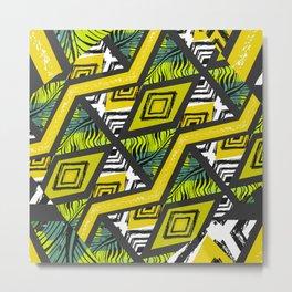 Yellow tropical vibes Metal Print