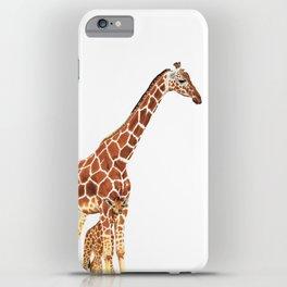Giraffe Art - A Mother's Love - By Sharon Cummings iPhone Case