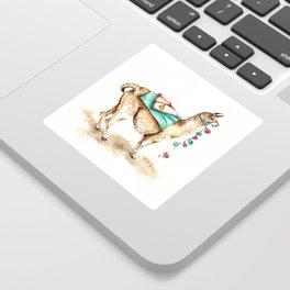 Watercolor Llama Sticker