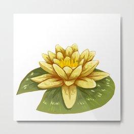Cute Yellow Lily Pad Metal Print