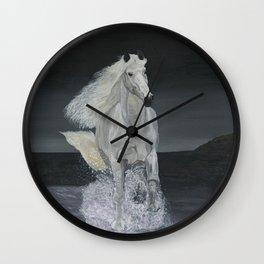 White Horse Freedom Wall Clock