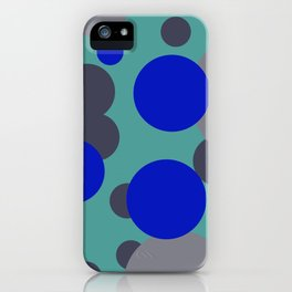 bubbles blue grey turquoise design iPhone Case