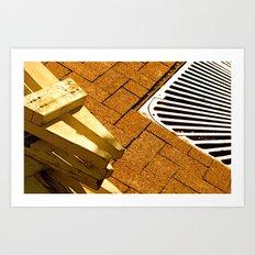 Construction Grid Art Print