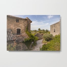 Ancient Buildings In Provence Metal Print