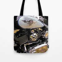 motorbike Tote Bags featuring  Motorbike  by Scenic View Photography