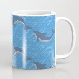 Playing Dolphins Pattern Coffee Mug