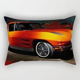 Little Red 'Vette Rectangular Pillow