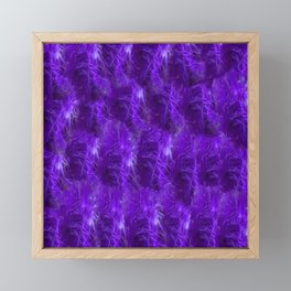Purple Heart Feathers Framed Mini Art Print