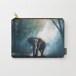 Walking with Elephant Carry-All Pouch