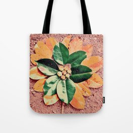 Peach and Flower Tote Bag