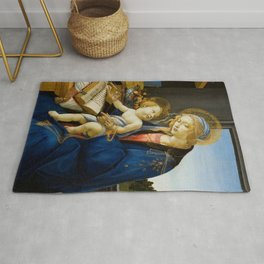 The Virgin and Child by Sandro Botticelli Rug