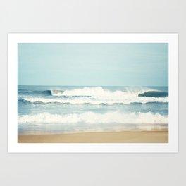 Ocean Photography, Calming Sea Photo, Blue Waves Seascape Photograph, Beach Print Art Print