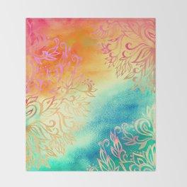 Watercolor Wonderland Throw Blanket