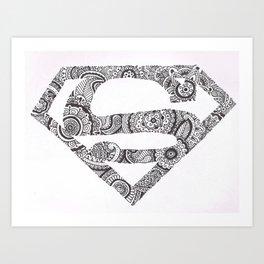 Super Symbol Doodle Art Print