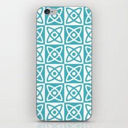 Mid Century Modern Atomic Check 140 Turquoise iPhone Skin
