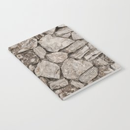 Old Rustic Stone Wall Notebook