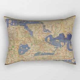 Tabula Rogeriana world map (12th century) Rectangular Pillow