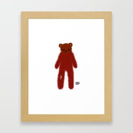 Mad Bear Framed Art Print