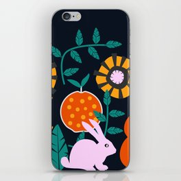 Music and a little rabbit iPhone Skin