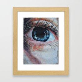 Look in my aye Framed Art Print