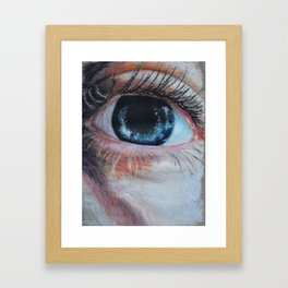 Look in my aye Framed Art Print