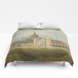 "J.M.W. Turner ""Fonthill Abbey in Wiltshire, England from the south west"" Comforters"