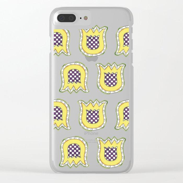 Topsy Turvy Tulips Clear iPhone Case