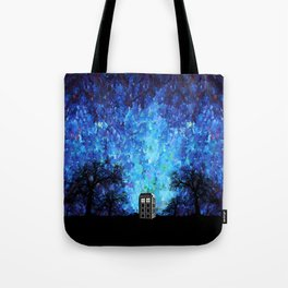 Lonely Tardis Doctor who Art painting Tote Bag