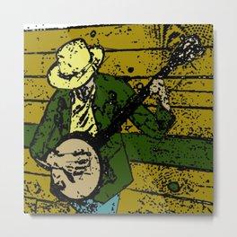 Banjo Man Metal Print