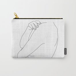 Nude figure line drawing illustration - Ember Carry-All Pouch