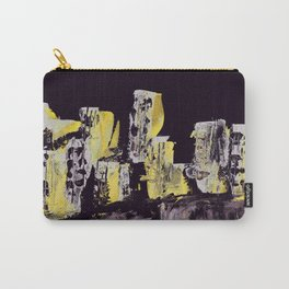 Yellow Purple Cityscape Carry-All Pouch