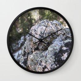 Crystalline Moss Wall Clock