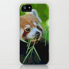 AnimalPaint_RedPanda_20171201 iPhone Case