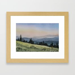 Early Morning in the Mountains Framed Art Print