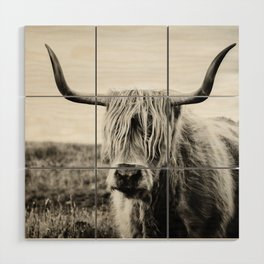 Highland Cow Wood Wall Art