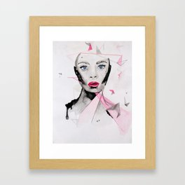 Geometrics // ink // watercolor  Framed Art Print