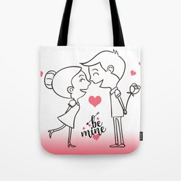 Valentines Day Special Love Couple Tote Bag