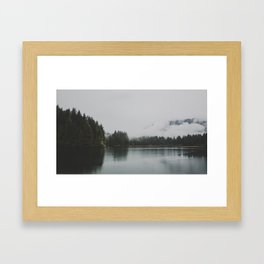 Lake + Fog Framed Art Print