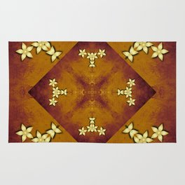 Mandala in copper and gold Rug
