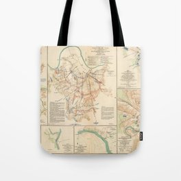 Civil War Batlle Field Maps From 1895 Tote Bag